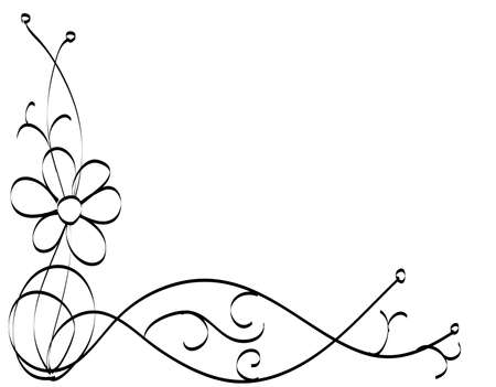 vector illustration of floral ornament , corner decoration Vector