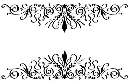 vector ornament In flower style black color Illustration