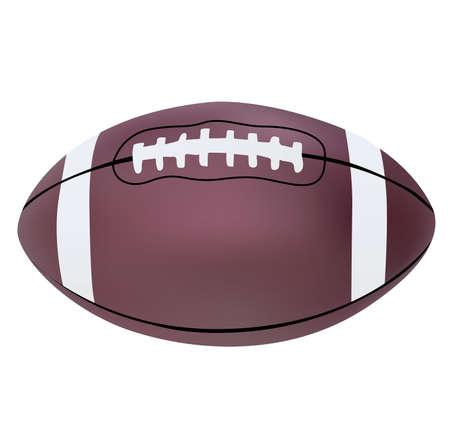 Vector illustration of American football ball Illustration