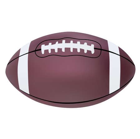 inflated: Vector illustration of American football ball Illustration