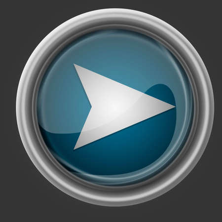 Play button blue color on dark background