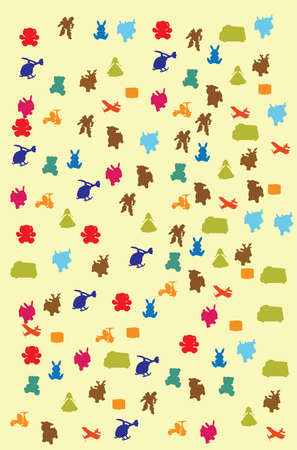 pattern with toys vector illustration in light colors Vector