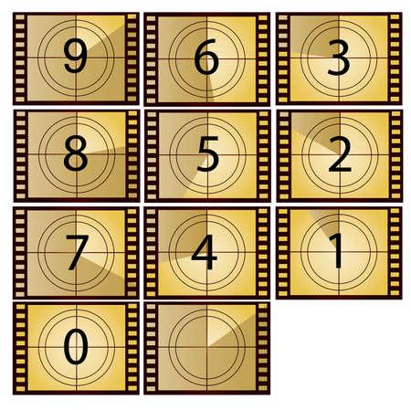 Film-Countdown in gelber Farbe Schönheit Stil Standard-Bild - 6121174