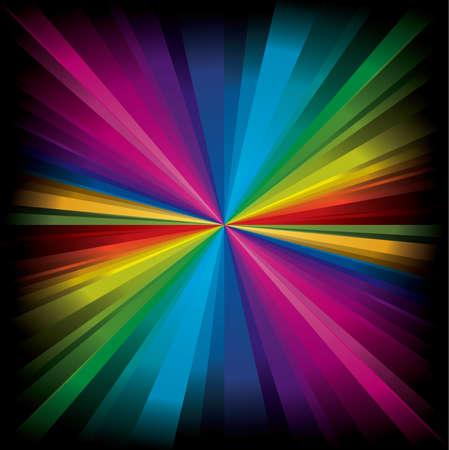 Magic radial Rainbow Light with dark edge Stock Vector - 6161578