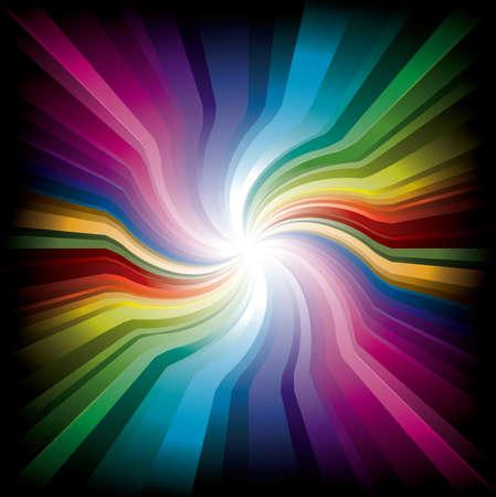 Magic swirl Rainbow Light with dark edge Stock Vector - 6174534