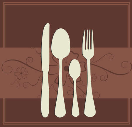 Menu or restaurant card in chocolate color