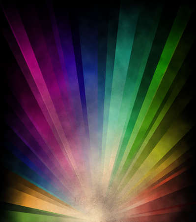 splotchy: Grungy background with rainbow on burnt paper