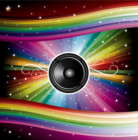 Disco Background for Music Flyers vector illustration Vector