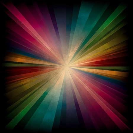 Magic radial Rainbow Light with dark edge on burnt paper