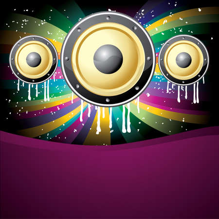 cool music colorful disco background vector illustration Vector