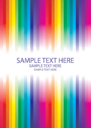 rainbow abstract background made from lines with place for text Stock Vector - 6356117