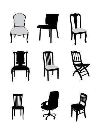 small furniture collection vector illustration for design