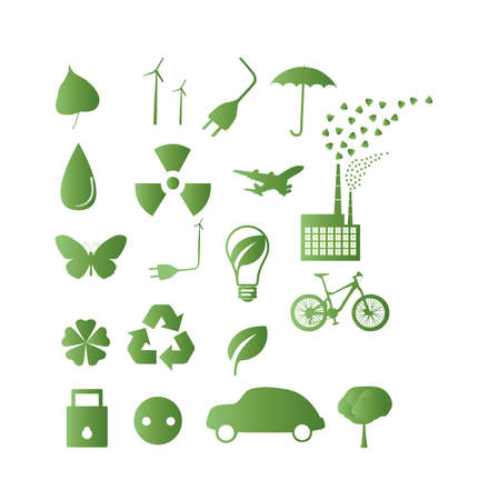 Great Set of ecology icons vector illustration Vector