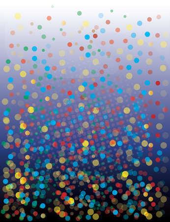 confetti background with circle in different colors  Vector
