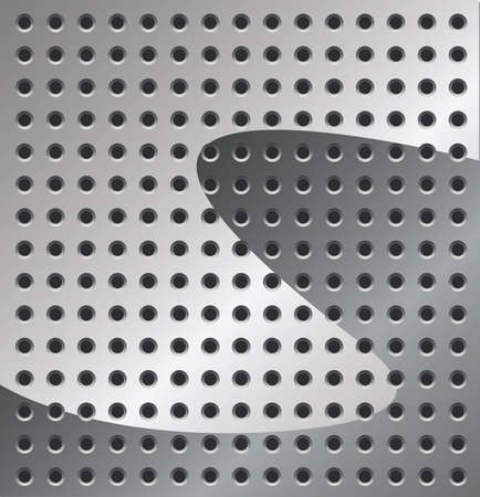 Metal Background in grey color with Holes Stock Vector - 7166407
