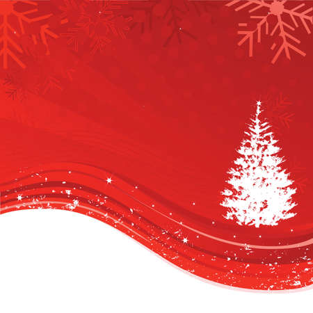 stock clip art icon: An abstract Christmas background illustration with star, snowflakes and tree