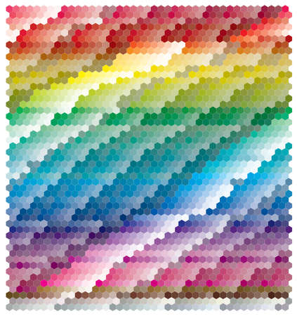 colourful abstract banner in rainbow color Vector
