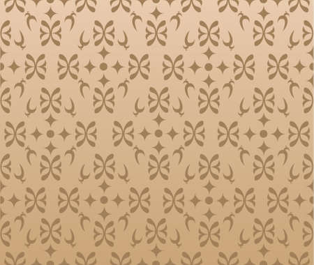 Retro Wallpaper background in brown color. Hires JPG included. Stock Vector - 8690399