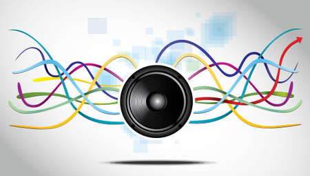 Abstract Background with speaker and lines. eps10 vector illustration Vector