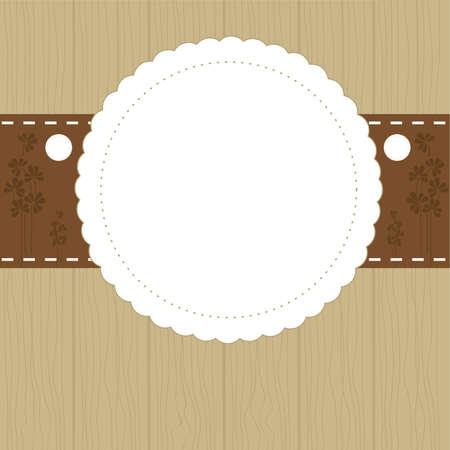 Invitation card in brown color with place for your text. vector illustration Vector