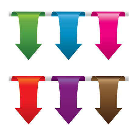 Set of colorful arrows. Vector  illustration on white Illustration