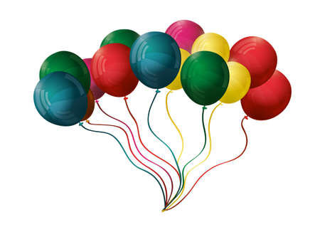 Colorful balloons. Vector