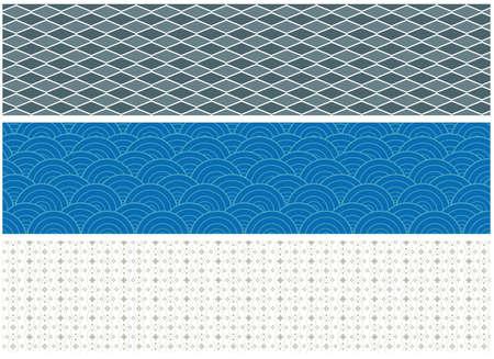 set of three ornamental patterns. vector illustration