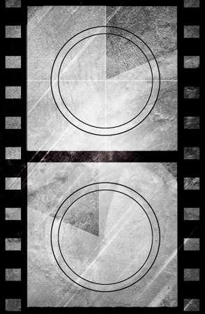 filmstrips: Grunge film countdown in dark color grunge style