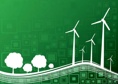 ecologie concept van de industrie en de natuur achtergrond - vector illustratie