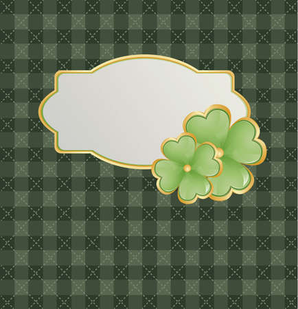 Golden background for St  Patrick s Days with place for your text  Vector Illustration Vector
