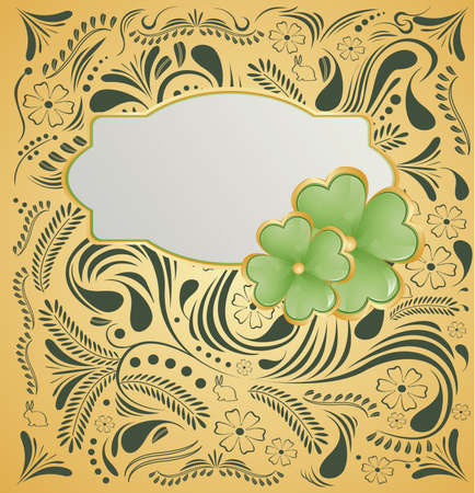 Golden background for St  Patrick s Days with place for your text  Vector Illustration Stock Vector - 12773791