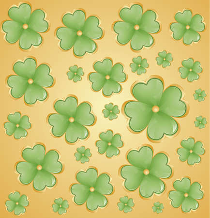 patrik day: Golden background for St  Patrick s Days with place for your text  Vector Illustration