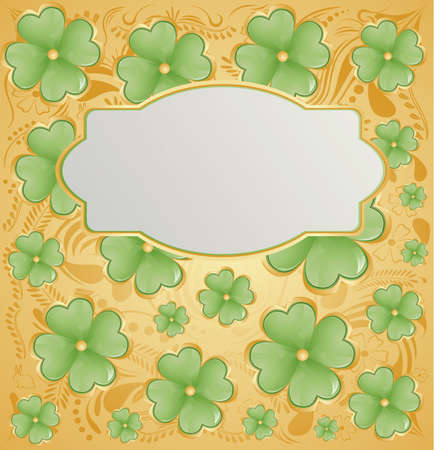 Golden background for St  Patrick s Days with place for your text  Vector Illustration Stock Vector - 12773795