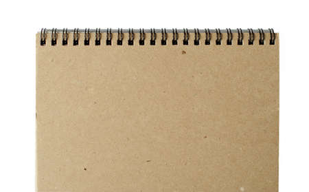 recycled paper notebook front cover with rings photo