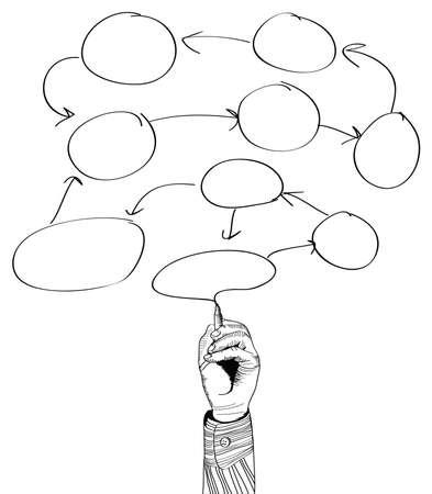 hand drawing empty scheme  Cloud illustration Stock Vector - 16895286