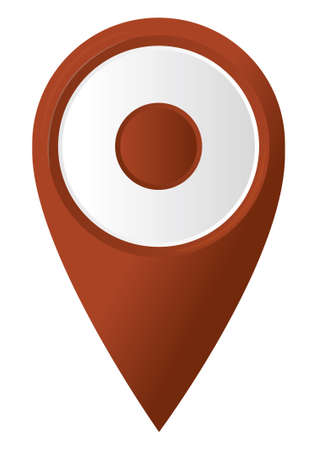 round 3D map pointer  vector illustration Vector