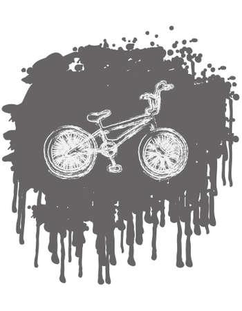bmx bike: BMX bike on splash background. vector illustration