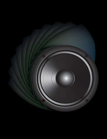loud speaker: sound loud speaker