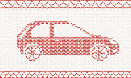 Red Knitted Car Royalty Free Cliparts Vectors And Stock
