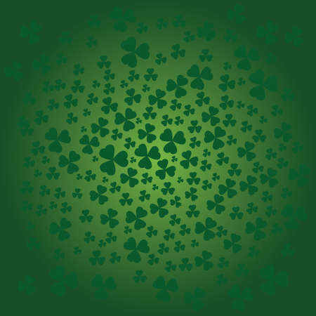 St Patrick day background in green color Illustration