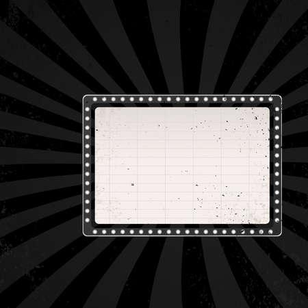 retro cinema sign in dark color  vector illustration Vector