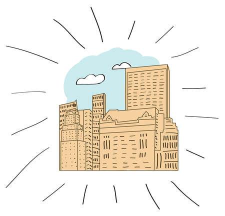 central park: nueva york, parte de la mano de Central Park dibujado ilustraci�n