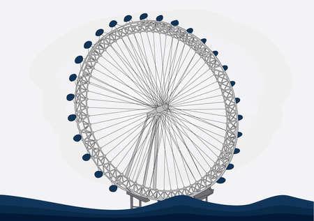london eye: London eye  vector illustration Illustration