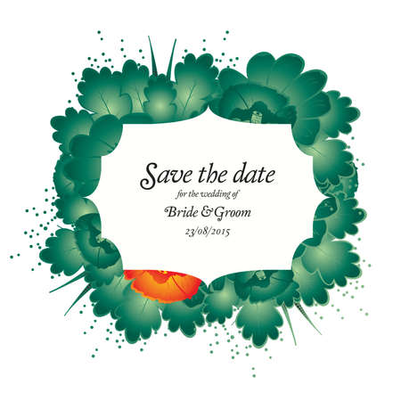 save the date wedding invite card template vector illustration Vector