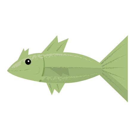 green fish: Green fish isolated