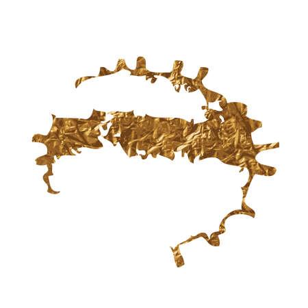 inky: Golden inky grunge splash Vector illustration