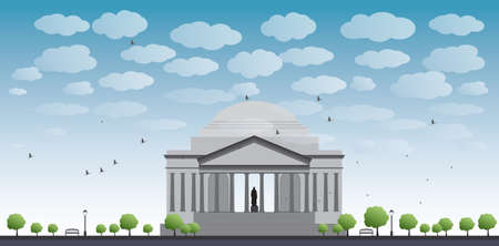 jefferson: Thomas Jefferson Memorial, in Washington, DC, USA Vector illustration