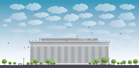 lincoln memorial: Abraham Lincoln Memorial in Washington DC USA Vector illustration