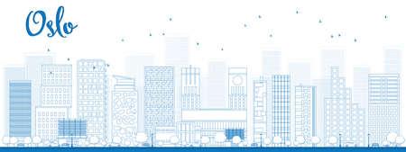 Outline Oslo Skyline with Blue Building. Vector Illustration Imagens - 40334979