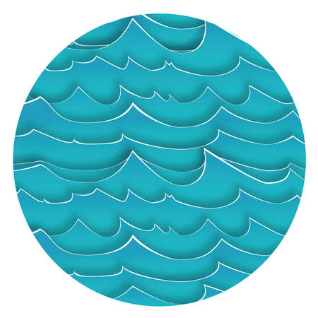 blue waves: Sfondo astratto con Blue Waves. Illustrazione vettoriale